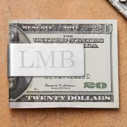 Personalized Brushed Silver Money Clip