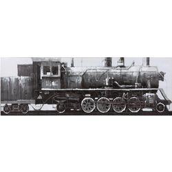 Vintage Train Painted Canvas Print