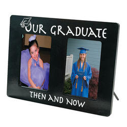 Our Graduate Then and Now Horizontal Picture Frame