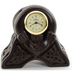 Irish Peat Claddagh Celtic Clock