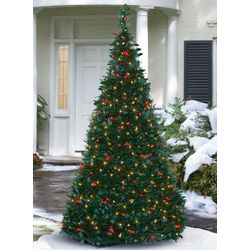 Pre-Lit Pull-Up Artificial Christmas Tree