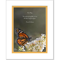 Friend or Family Poem Personalized Butterfly Print
