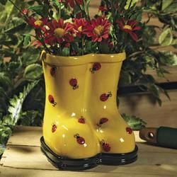 Ladybug Boot Planter