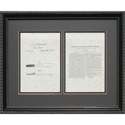 Toothbrush Patent Framed Print