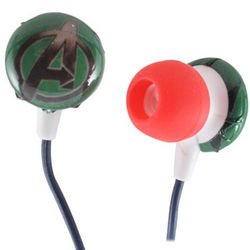 Green Avengers Stereo Earbuds