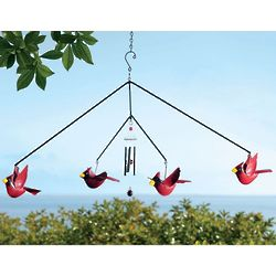 Cardinal Mobile Wind Chime