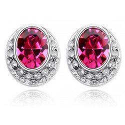 Magenta Swarovski Crystal Earrings