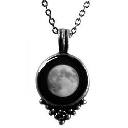 Full Moon Pewter Moonglow Necklace