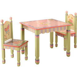 Kid's Magic Garden Table and Chairs Set