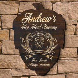 Hop Head Personalized Beer Sign