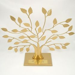 Personalized 50th Anniversary Gold Family Tree on Stand