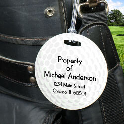 Golf Ball Personalized Tag