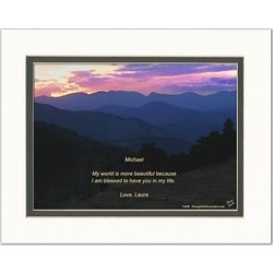Family or Friend Poem Personalized Mountain Sunset