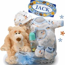 Oh Boy! Little Miracle Baby Boy Gift Basket
