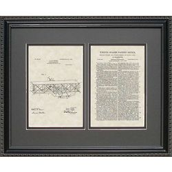 Wright Flyer Airplane Patent Framed Print