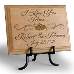 Personalized I Love You More Wooden Plaque