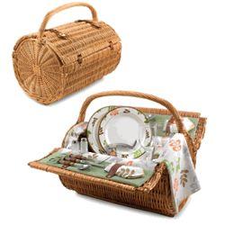 Barrel Botanica Picnic Basket for 2
