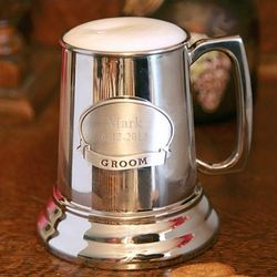 Personalized Medallion Polished Beer Mug