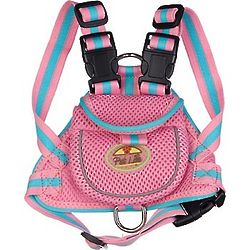 Pink Backpack Dog Harness