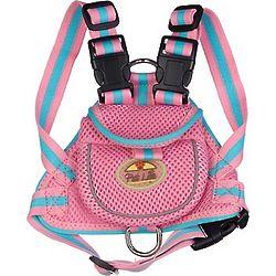 Pink Backpack Dog Harness