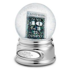 40th Birthday Snow Globe