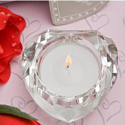 Crystal Collection Heart Candle