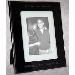 Luxury Black Glass Photo Frame