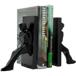 Leaning Man Bookends