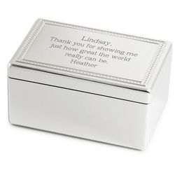 White Christmas Rectangle Music Box