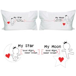 Love You All Night Long His and Hers Pillowcases