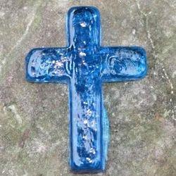 Hope Glass Aqua Pocket Cross