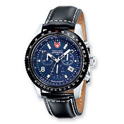Flight Deck Blue Chronograph Watch