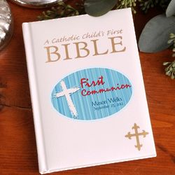 Personalized Blue First Communion Child's Bible