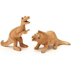Triceratops or T-Rex Wood Figurine