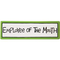 Employee of the Mouth Desk Plaque