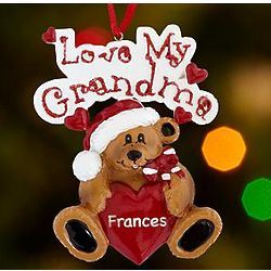 Personalized Love My Grandparents Ornament