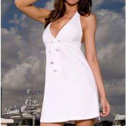 Halter Top Terry Cloth Dress