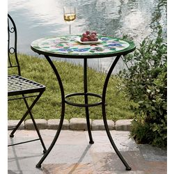 Hummingbird or Wine Mosaic Outdoor Table