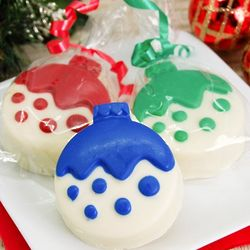 Ornament White Chocolate Covered Oreo Cookies