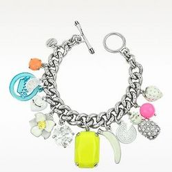White Fruit Charm Bracelet