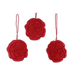 Red Rose Celebration Ornaments Set