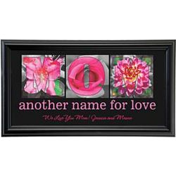 Mom Personalized Floral Framed Print