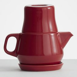 Red Teapot and Cup Set