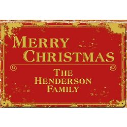 Personalized Merry Christmas Wall Sign