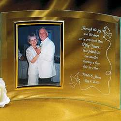 Personalized Beveled Glass Anniversary Frame