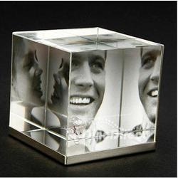 Crystal Cube Photo Frame