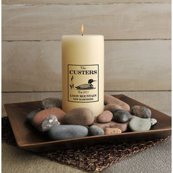 Personalized Cabin Candle