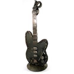 'Rustic Rock Guitar' Iron Statuette