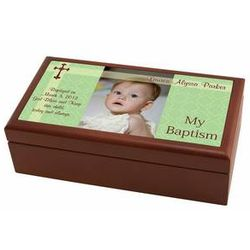 Personalized Baptism Photo Wood Box