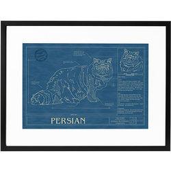 Framed Cat Blueprint